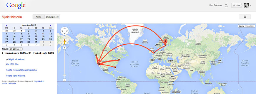 Google Maps Phone Tracking Route