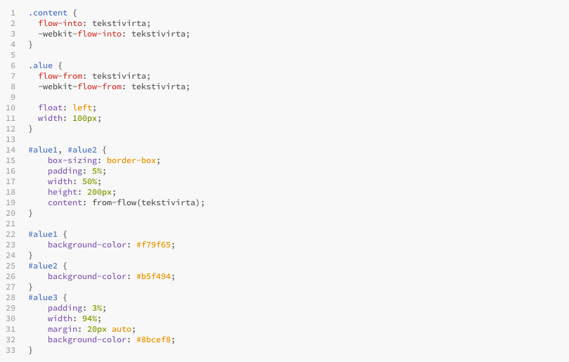 CSS for CSS Regions