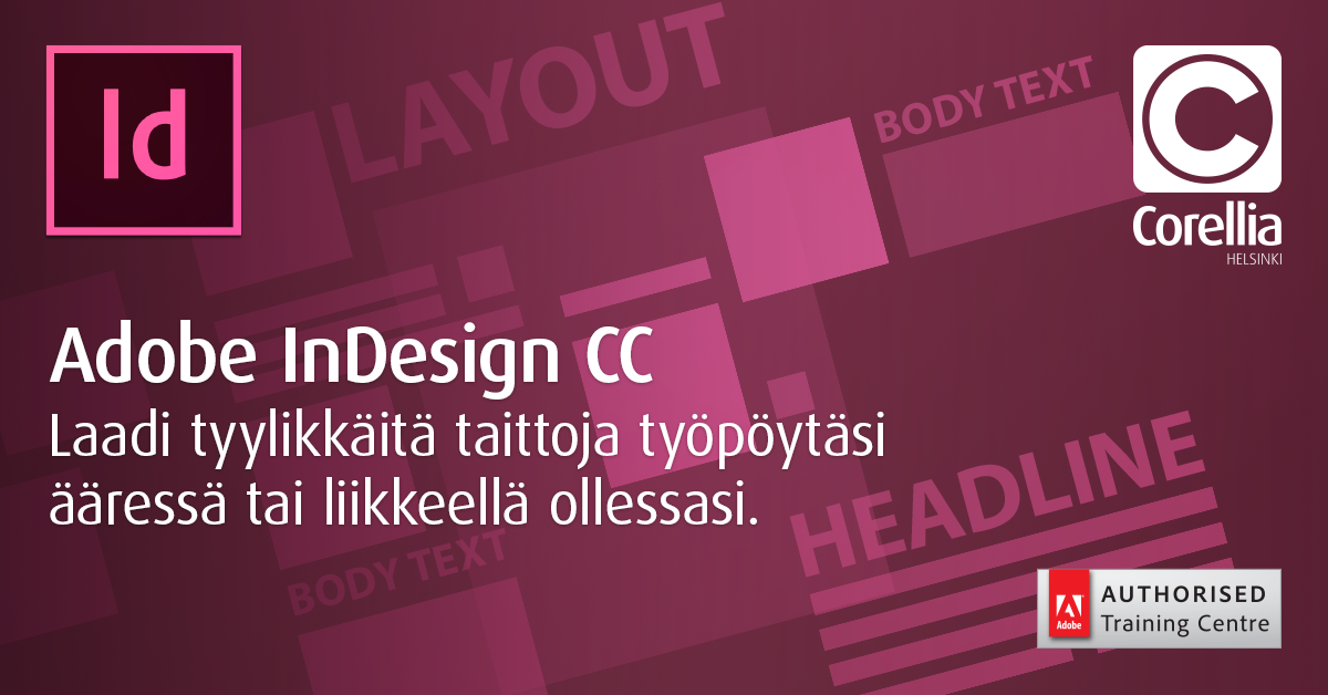 Adobe InDesign -kurssi