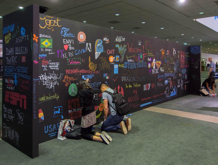 Adobe MAX welcome board