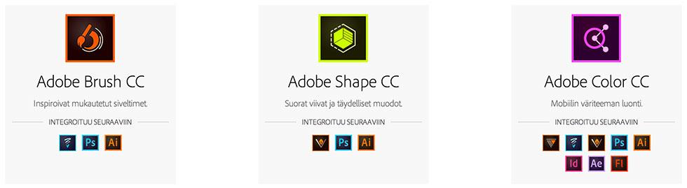 Adobe mobile sovellukset Illustrator
