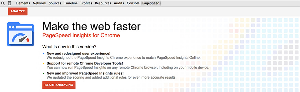 PageSpeed plugin