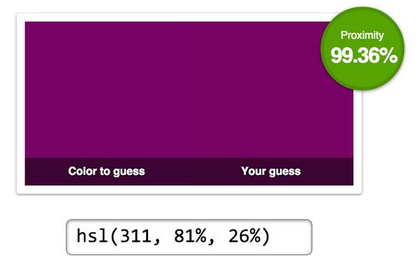 Color test result